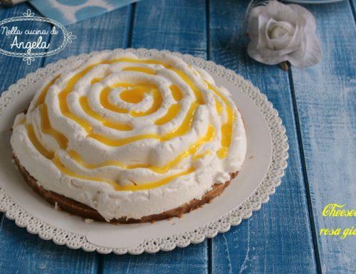 Cheesecake rosa gialla