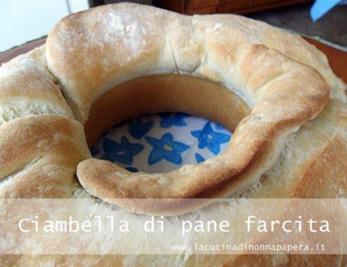 Ciambella di pane farcita