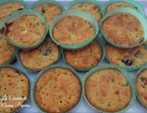 Muffin salati di zucchine light