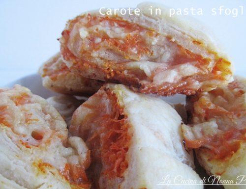 Antipasto di salatini con carote e formaggio