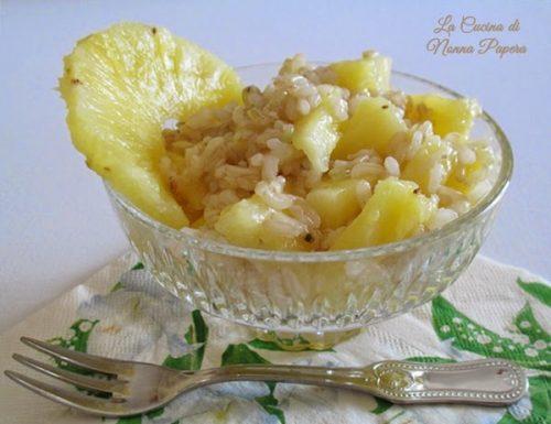 Risotto con ananas