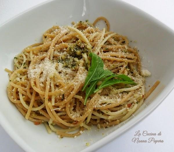 Spaghetti salvia e rucola