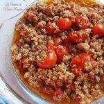 Ragù di carne con pomodorini