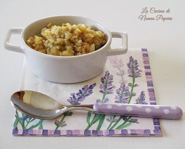 Minestrone di zucchine con riso