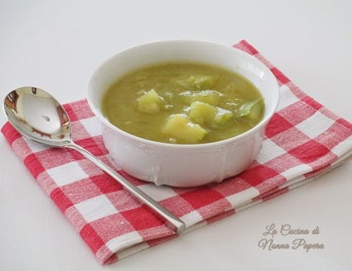 Minestrone di zucchine e patate