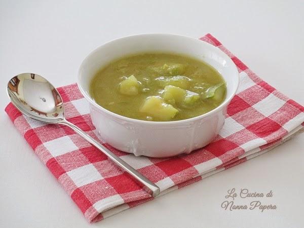 Minestrone di zucchine patate