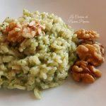 Risotto spinaci e noci
