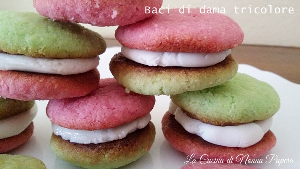 Baci di dama tricolore ricetta