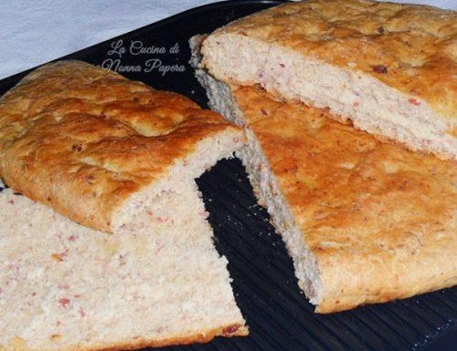 Focaccia bolognese al prosciutto ricetta bimby