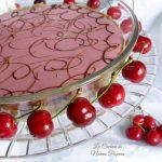 Torta fredda allo yogurt di ciliegia