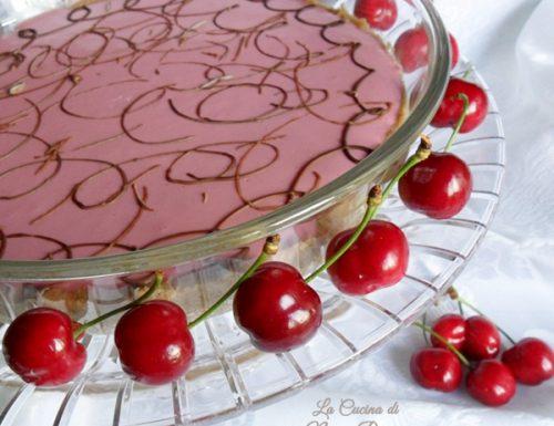 Torta fredda allo yogurt di ciliegia ricetta senza cottura