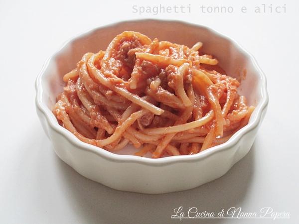 Spaghetti tonno e alici