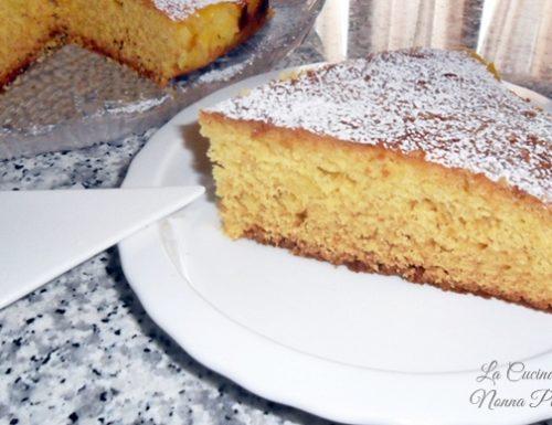 Torta con farina di mais-ricetta con fruttosio