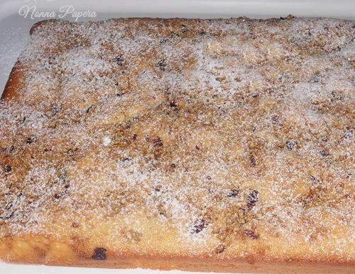 Torta con barrette di cereali