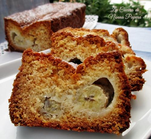 Plumcake con banane e miele