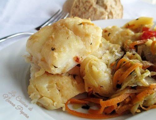 Baccalà con patate e verdure
