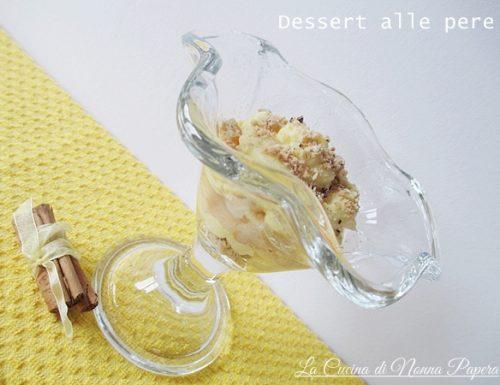 Dessert alla crema con pere