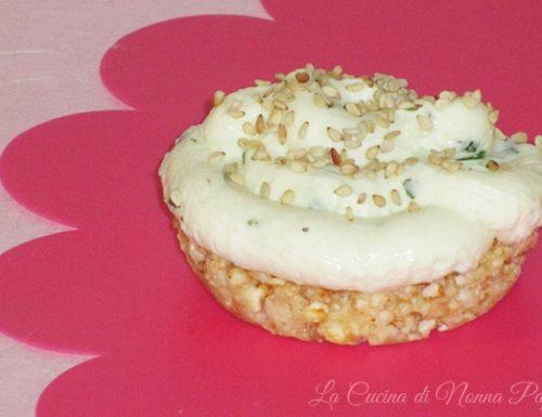 Cheesecake salata con erbette
