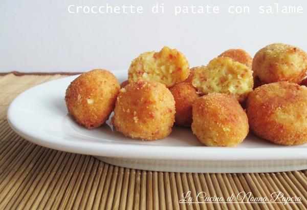 crocchette di patate con salame