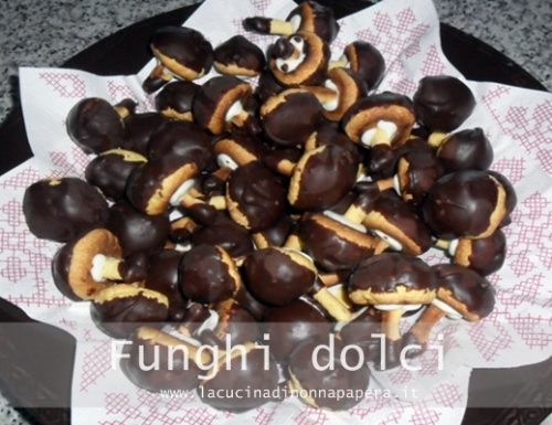 Funghi dolci biscotti