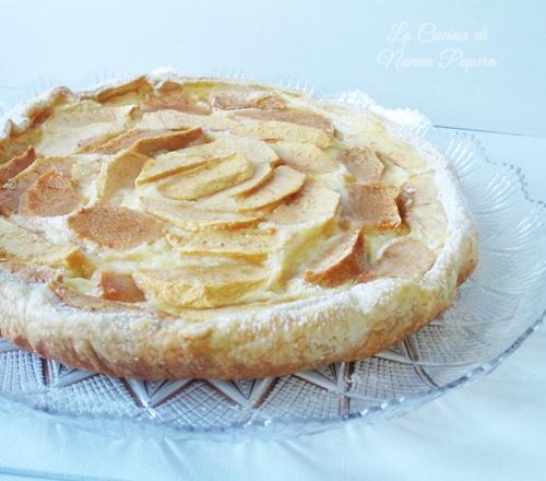 Crostata di mele al budino