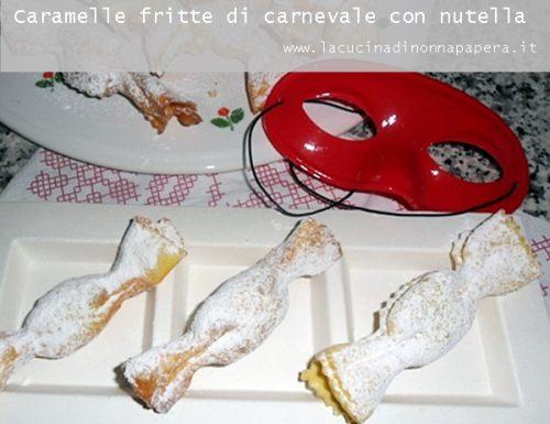Caramelle di pasta fritte con nutella