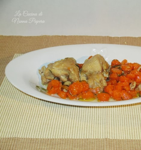 Coniglio con carote in pentola a pressione