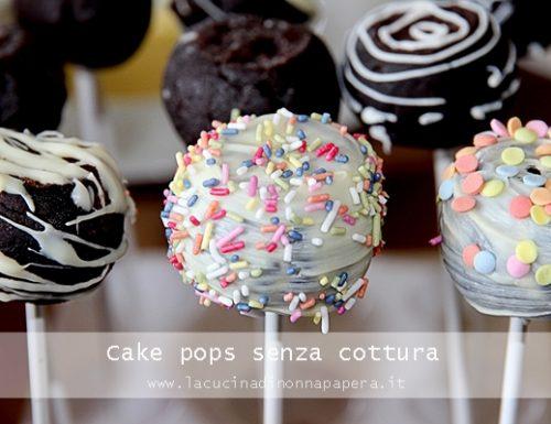 Cake pops senza cottura
