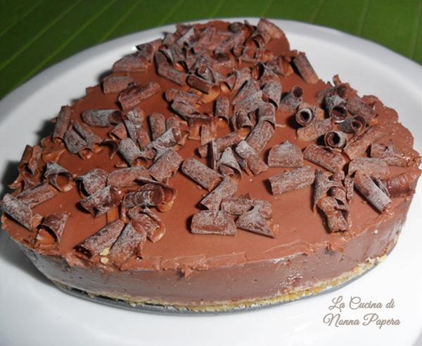 Torta fredda di budino al cioccolato