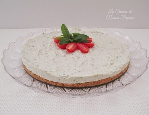 Cheesecake al pesto e ricotta