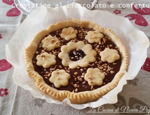 Crostatine al cioccolato e confettura