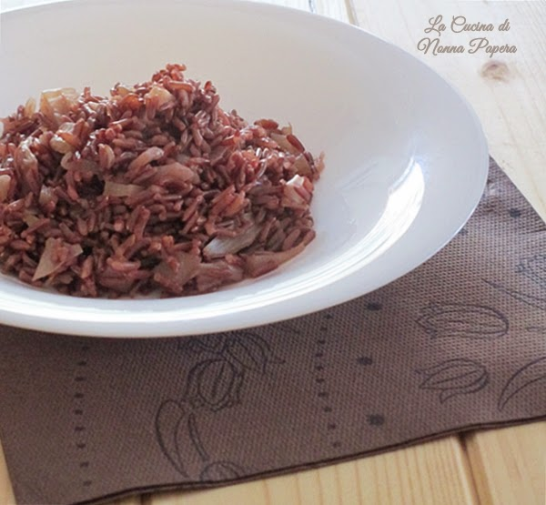 riso rosso con finocchio