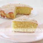 Torta di semolino con mascarpone