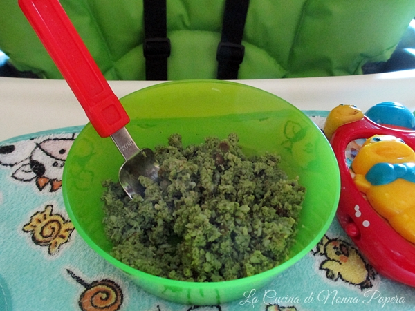 Mousse di halibut spinaci e patate