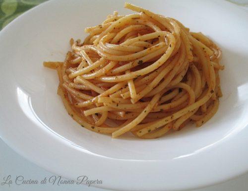 Spaghetti aromatizzati col microonde