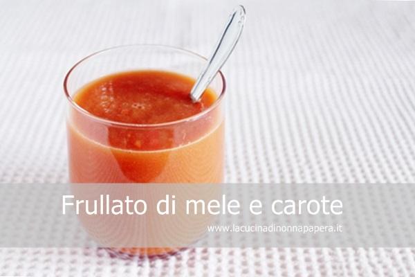 Frullato di mele e carote