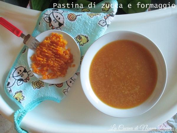 Pastina di zucca e formaggio