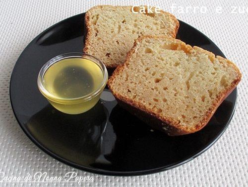 Cake di farro e zucca senza latte