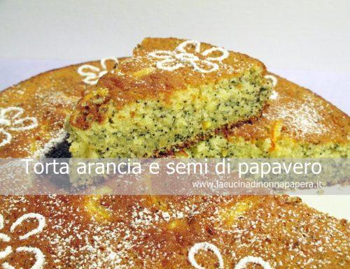 Torta arancia e semi di papavero