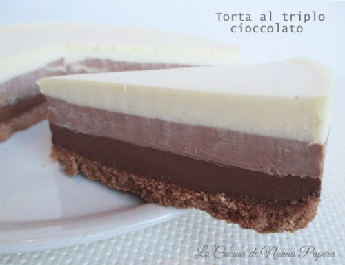 Torta al triplo cioccolato-Ricetta bimby