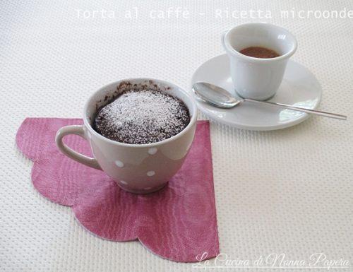Torta al caffè e cacao-Ricetta microonde
