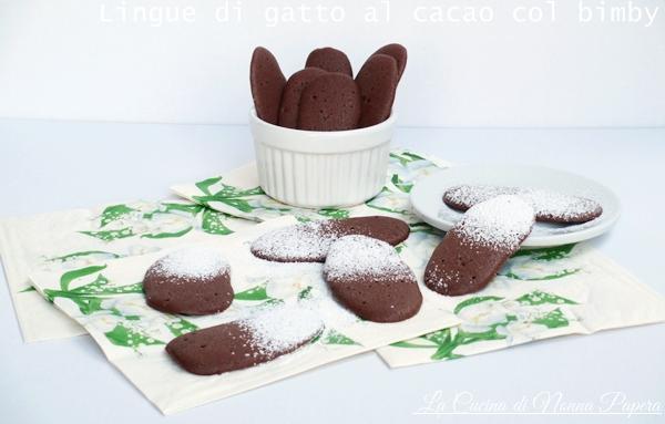 Lingue di gatto al cacao