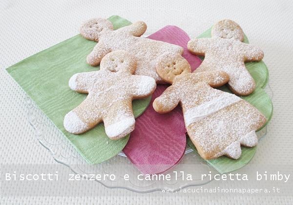 Biscotti allo zenzero e cannella bimby