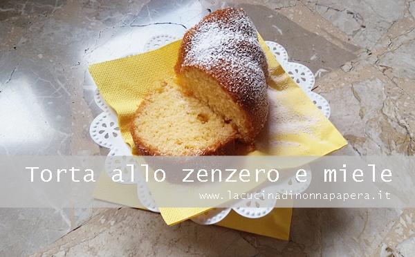 Torta allo zenzero e miele