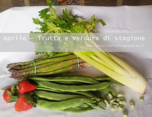 Frutta e verdura di stagione la spesa di aprile