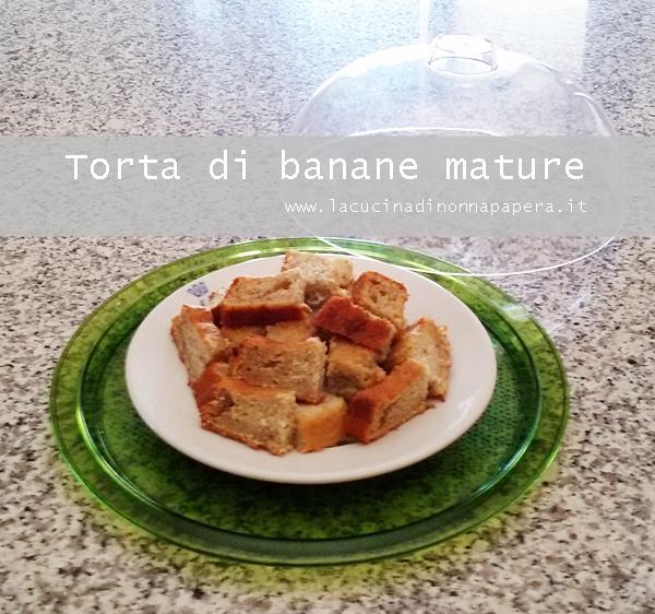 Torta di banane mature