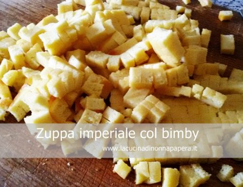 Zuppa imperiale col bimby