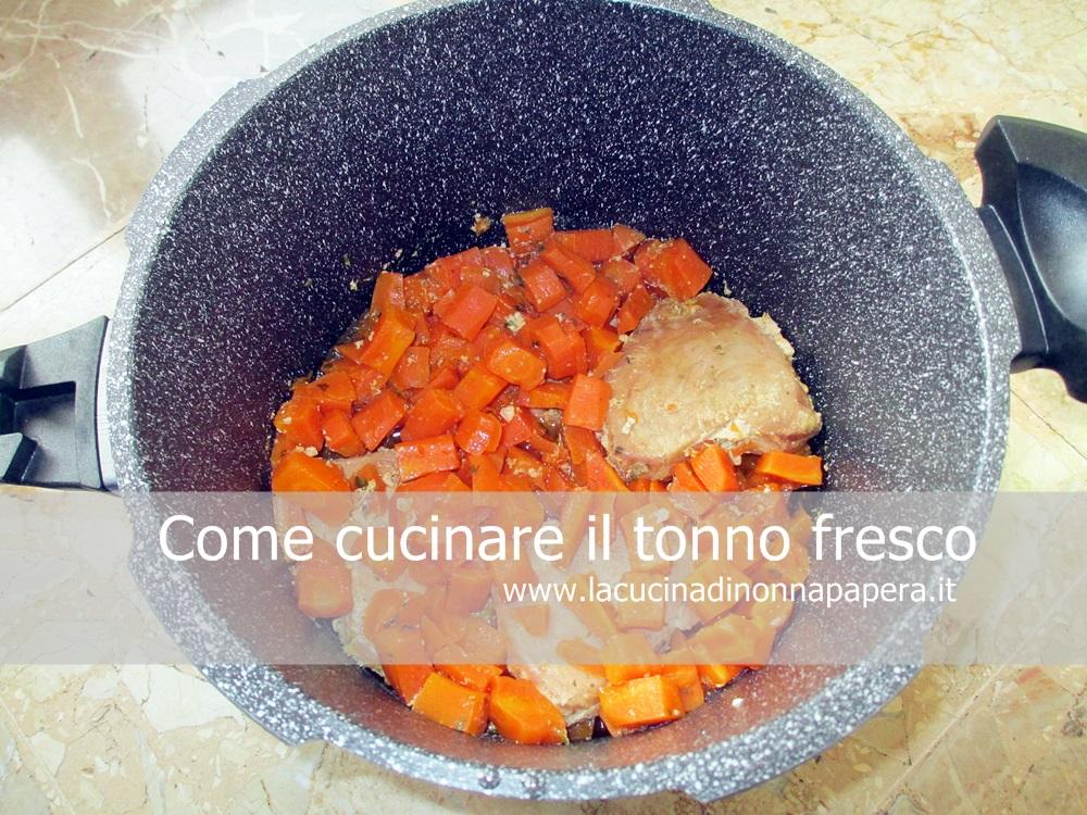 Il tonno fresco al varoma ricetta facile con bimby tm21 - Cucinare tonno fresco ...