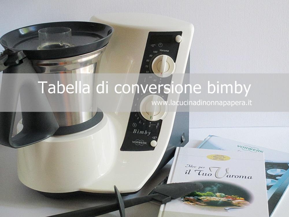 Tabella di conversione bimby