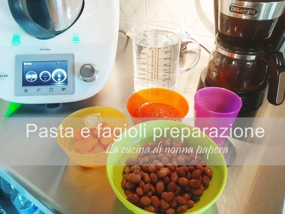 Pasta-fagioli-bimby-preparazione